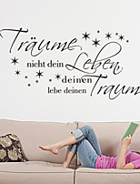 Wall Stickers Wall Decals , Traume German Words & Quotes PVC Wall Stickers