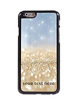 Personalized Gift Golden Sand Design Aluminum Hard Case for iPhone 6 Plus