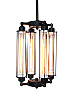 4 lightsTube Cage Ceiling Chandeliers