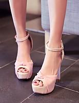 Women's Shoes  Chunky Heel Heels/Peep Toe/Platform Sandals/Pumps/Heels Office & Career/Dress/Casual Black/Pink/Red/White
