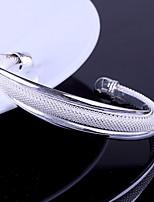 Women's Fashion Silver Cuff With Bracelet