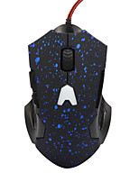 6-Keys 800/1200/1600dpi Snow Point Bright Light Wired Gaming Mouse