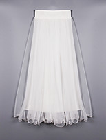 Women's Solid White Skirts , Beach/Casual Maxi