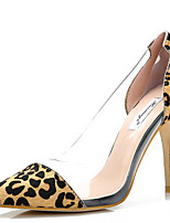 Women's Shoes Leather/Latex Stiletto Heel Heels/Pointed Toe Pumps/Heels Wedding/Dress Animal Print