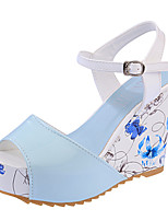 Women's Shoes  Wedge Heel Wedges/Comfort Sandals Party & Evening/Dress/Casual Blue/Pink/White