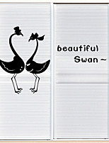 Wall Stickers Wall Decals Style Beautiful Swan PVC Wall Stickers