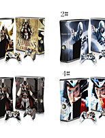 Designer Skin Sticker for Xbox 360 Slim Console with Two Wireless Controller Decals