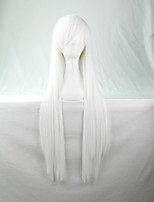 Cos Anime Bright Colored Wigs White Long  Straight  Hair Wig 80 cm