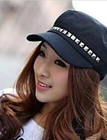 Women Cute/Casual Summer Cotton Blend Military Hat