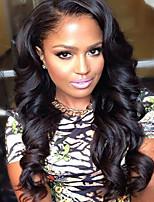 Menschenhaarspitzeperücken für Frauen brasilianisches reines Haar wellig Menschenhaar-Farbe (# 1 # 1b # 2 # 4)
