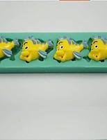 herramientas de la torta de la pasta de azúcar en forma de silicona del molde del molde del chocolate / decoración de peces payaso para la