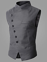 Men's Sleeveless Vest , Cotton Blend/Polyester Formal Pure