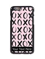 Personalized Gift XOXOXO Design Aluminum Hard Case for iPhone 6