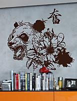 adesivi murali decalcomanie della parete, autoadesivi della parete moderni pvc panda arrabbiato