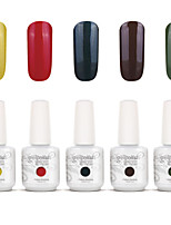 Gelpolish Nail Art Soak Off UV Nail Gel Polish Color Gel Manicure Kit 5 Colors Set S125