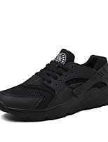 Men's Shoes Tulle Summer Fall Low Heel Black Gray Black/White Under 1in