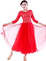 Robes ( Noire/Vert clair/Rouge , Dentelle/Tulle , Danse moderne/Spectacle ) Danse moderne/Spectacle - pour Femme