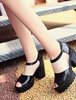 Women's Shoes Chunky Heel Heels/Open Toe Sandals Dress Black/Blue/Green/Pink/Beige