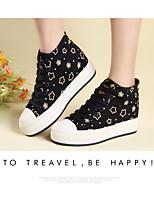 Zapatos de mujer - Tacón Bajo - Creepers / Comfort / Punta Redonda - Sneakers a la Moda - Exterior / Vestido / Casual - Tela -Negro /