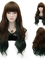 Mix Color Straight Hair Lady Wigs Hair Beautiful Synthetic Hair Wigs