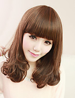 Japan And South Korea Popular Pear Flower Roll A Shave Short Brown Curly  Hair Wigs