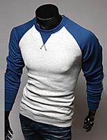 T-shirt Uomo Casual/Da ufficio/Attività sportive Manica lunga Misto cotone