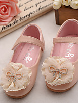 Girls' Shoes Dress Comfort Round Toe Leather Flats Shoes with Magic Tape More Colors available