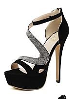 Women's Shoes  Stiletto Heel Open Toe Sandals Casual Black