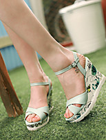 Women's Shoes  Wedge Heel Wedges Sandals Office & Career/Dress/Casual Green/Pink/White