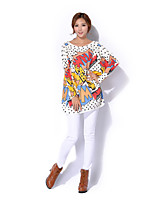 Women's Casual/Print Stretchy Medium Long Sleeve Pullover (Wool/Acrylic)6910#