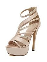 Women's Shoes Silk Stiletto Heel Platform Sandals Party More Colors available