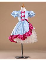 Flower Girl Dress - Princesse Longueur genou Manche courte Satin