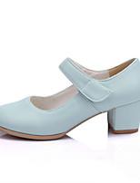 Girls' Shoes Casual Heels/Round Toe  Pumps/Heels Pink/Beige