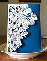1pcs 3 Colors Laser Cut Bell Christmas Greeting Card Party Invitaion Card Christmas Tree Decoration