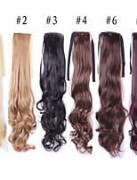 55 Cm Long Natural Wavy Wig Hairpiece Synthetic Hair Costume Party Tails Black Light Brown Blonde Wigs Hair Tail