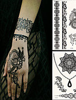 2 PC BlackLace Hena Tattoos Sticker W306-308