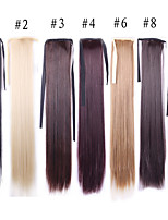 55 Cm Long Natural Straight Wig Hairpiece Synthetic Hair Costume Party Tails Black Light Brown Blonde Wigs Hair Tail