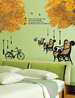 Wall Stickers Wall Decals Style Beautiful Autumn PVC Wall Stickers
