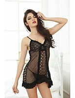 Sexy Lingerie Women Underwear Babydoll Sleepwear Black Nightwear Dress G-String