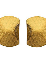 European and American Fashion Jewelry Simulation of 18 K Gold Fashionable Joker Side Stud Earrings