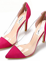 Women's Shoes Latex/Wool Stiletto Heel Heels/Pointed Toe Pumps/Heels Wedding/Dress Pink