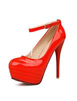 Women's Shoes Stiletto Heel Heels/Round Toe/Closed Toe Pumps/Heels Wedding/Party & Evening/Dress Black/Blue/Red/White