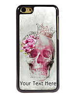 Personalized Gift Skull and Rose Design Aluminum Hard Case for iPhone 5C