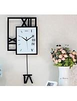 Horloge murale - Carré - Moderne/Contemporain - en Verre/Bois