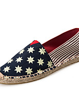 Women's/Men's/Lovers' Shoes Canvas Flat Heel Espadrilles Loafers Casual Blue/Red