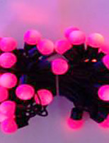 6W 5 Meter Outer Diameter 50pcs Bulb LED Modeling String Lights  Small Ball Lights, Pink Color