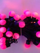 6w 5 metros de diámetro exterior del bulbo 50pcs llevó luces de la secuencia de modelado pequeñas luces de la bola, color rosa