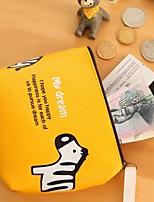 Cartoon Zebra/Elephant Stylish Pinky Color PU Leather Coin Purse (Random Delivery)