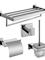 Conjuntos de Acessórios de Banheiro/Suportes para Papel Higiénico/Gancho para Robes/Prateleira de Vidro/Suporte de Escova de Banheiro