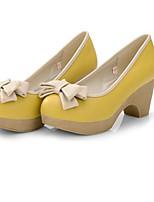 Women's Shoes Flat Heel Heels/Basic Pump Pumps/Heels Office & Career/Dress/Casual Black/Yellow/Beige